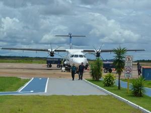 Voos com  ATR-72 tem capacidade de transportar 68 passageiros (Foto: Jonatas Boni/G1)