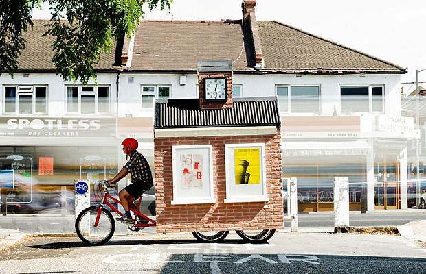 É uma casa na bicicleta? (Foto: Divulgação)