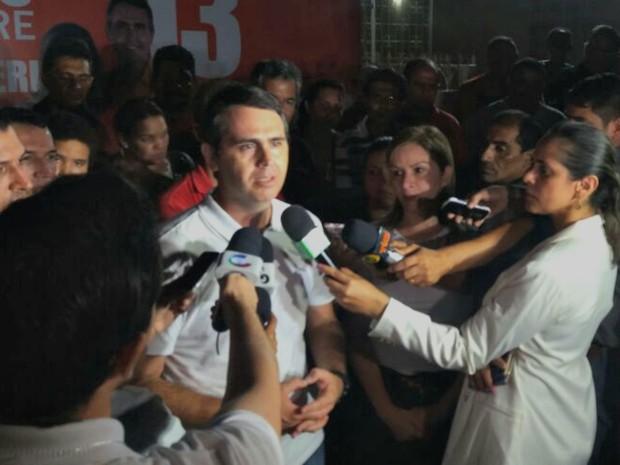 Marcus Alexandre, do PT, foi reeleito em Rio Branco, no Acre  (Foto: Yuri Marcel/G1)