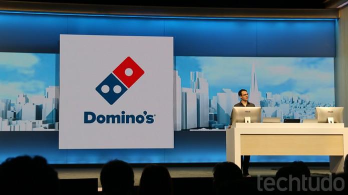 Microsoft une Cortana e Dominos para fazer pedidos de pizza online na Build 2016 (Foto: Thássius Veloso / TechTudo)