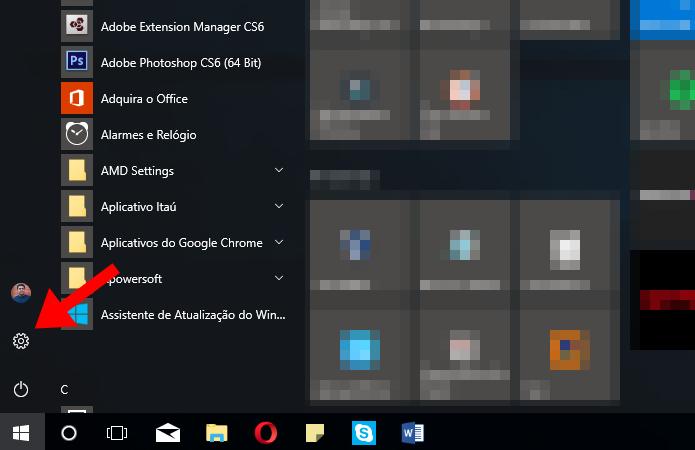 Acesse as configurações do Windows (Foto: Reprodução/Paulo Alves)