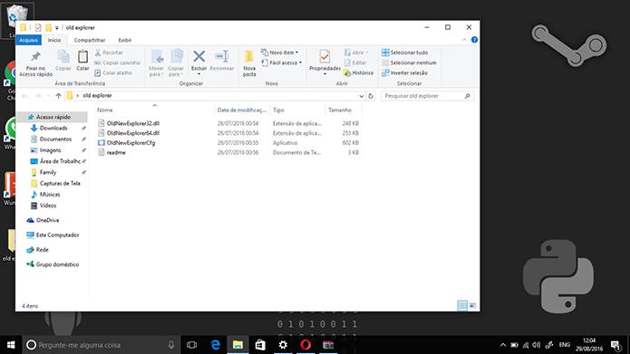 Extraia arquivos do OldNewExplorer em pastas antes de modificar o Windows Explorer (Foto: Reprodução/Elson de Souza)