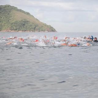 1ª etapa do Santista de Águas Abertas 2017 (Foto: Isabela Carrari / Prefeitura de Santos)