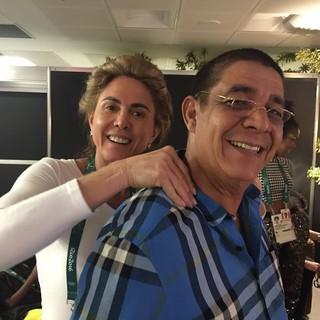 Zeca Pagodinho e Hortência (Foto: Reprodução / Instagram)