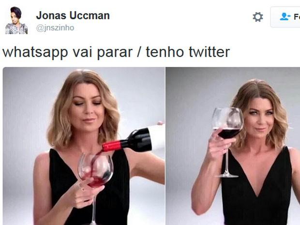 """Ellen Pompeo (a Meredith Grey de """"Grey's Anatomy"""") aparece em meme no Twitter (Foto: Reprodução/Twitter/jnszinho)"""