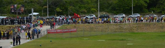 Tour da Taça da Copa do Mundo 2014, em João Pessoa (Foto: Larissa Keren / GloboEsporte.com/pb)