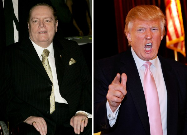 O empresário Larry Flynt e o presidente dos EUA, Donald Trump (Foto: Getty Images)