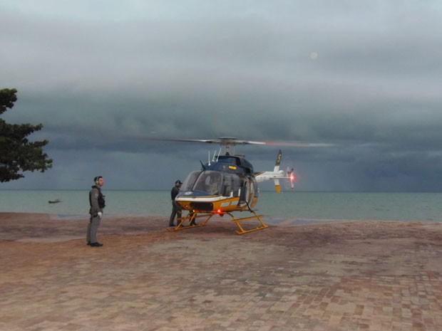 Polícia Rodoviária Federal fez buscas por avião em Goiana, PE (Foto: Álvaro Mello / Acervo Pessoal)