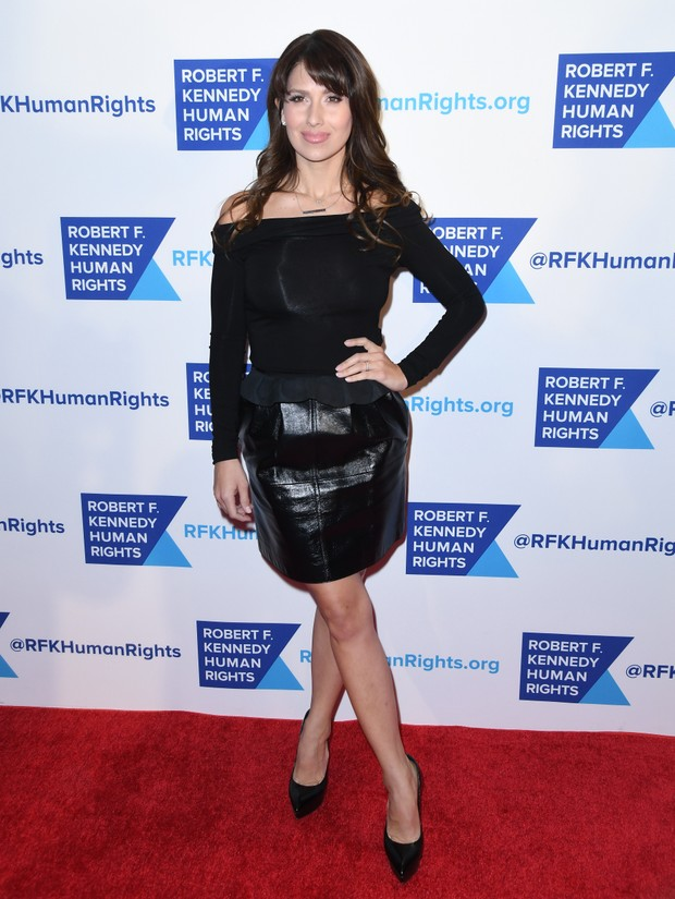 Hilaria Thomas em evento em Nova York, nos Estados Unidos (Foto: Angela Weiss/ AFP)