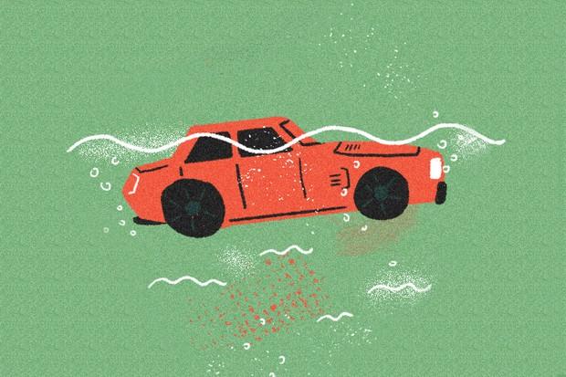 O que acontece se um carro blindado cair no rio? (Foto: Rodrigo Fortes / Autoesporte)