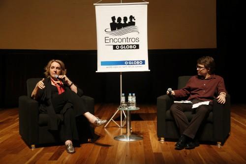 Foto (Foto: Lya Luft participar dos Encontros O Globo com o jornalista do Prosa Leonardo Cazes / Foto de Simone Marinho)