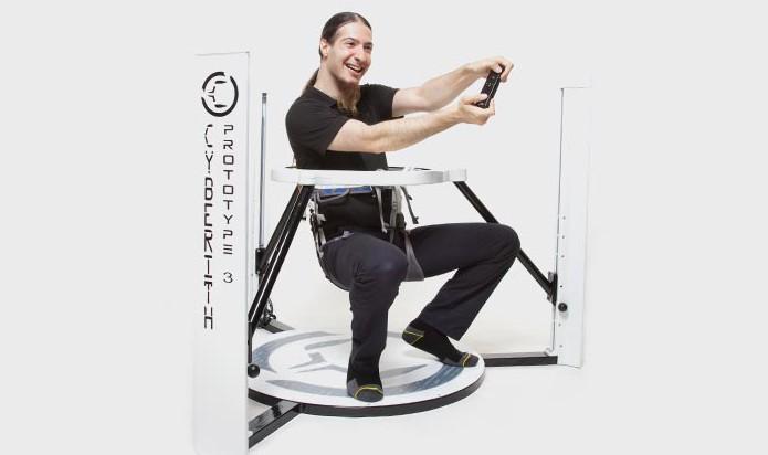 O Virtualizer tem uma base acompanhada por três pilares (Foto: Divulgação/Cyberith)
