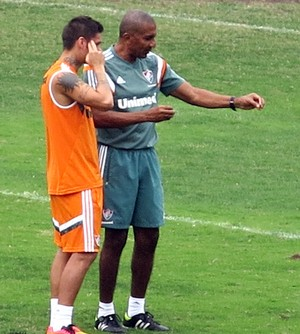 Cristóvão e Rafael Sóbis conversando (Foto: Rapahel Zarko / Globoesporte.com)