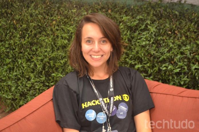 Camila Achutti, jurada convidada do Hackathon Globo de 2016 na casa do BBB (Foto: Caio Bersot / TechTudo)