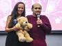 Edgar Vivar e Ana de la Macorra, de 'Chaves', encontram fãs em evento
