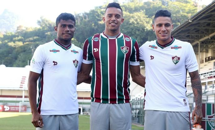 Maranhão, William Matheus e Dudu - Fluminense (Foto: Nelson Perez/Fluminense FC)