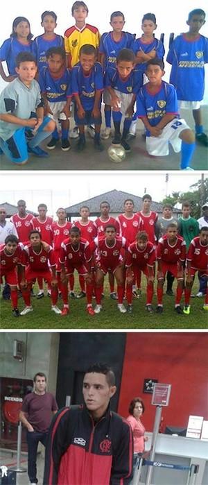 Montagem Thiago-Santos-Flamengo (Foto: infoesporte)
