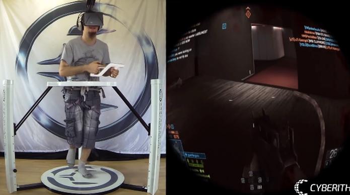 Virtualizer é um joystick que 'coloca' o jogador no game (Foto: Reprodução/Cyberith)