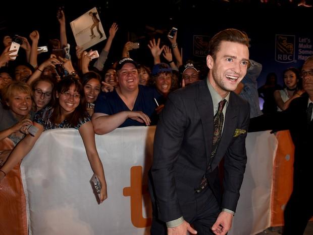 Justin Timberlake no festival de cinema de Toronto, no Canadá (Foto: Kevin Winter/ Getty Images/ AFP)