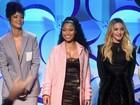 Rihanna quase mostra demais em evento com Beyoncé e Madonna