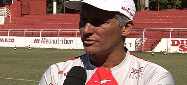 Márcio Bittencourt - técnico - Vila Nova (Foto: Reprodução/TV Anhanguera)