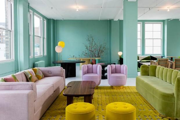 sala de estar veludo (Foto: divulgação)