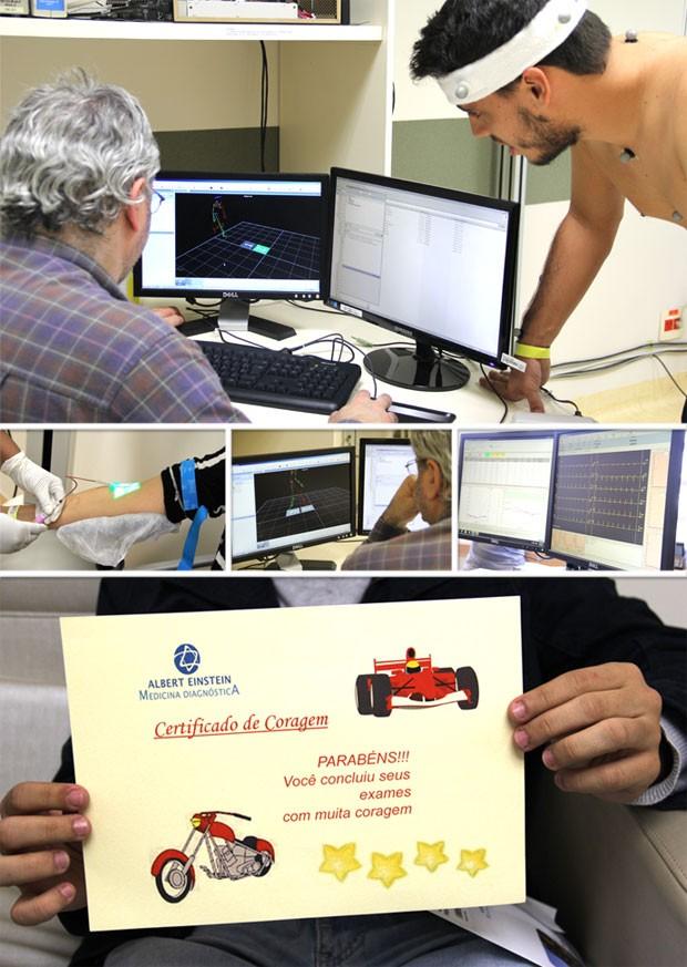 Montagem Eu Atleta - Lista de exames (Foto: Editoria de Arte)
