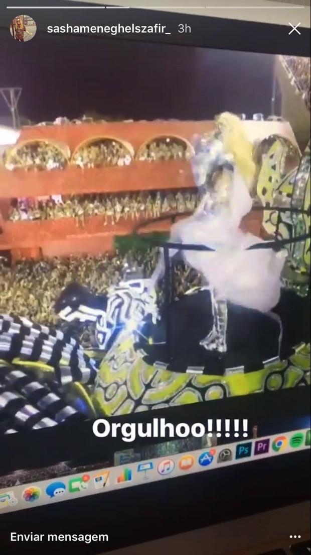 Sasha não curte o carnaval do Rio (Foto: Reprodução do Instagram)
