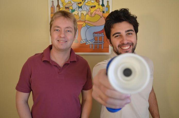 Gustavo e Rafael, os criadores do Super Cooler (Foto: Divulgação)