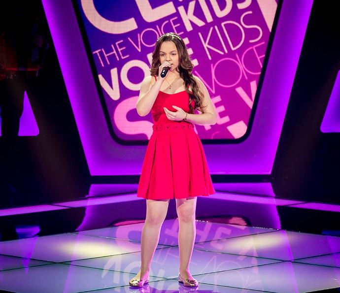 Andréa Vitória cantou Pixinguinha no The Voice Kids (Foto: Isabella Pinheiro/Gshow)
