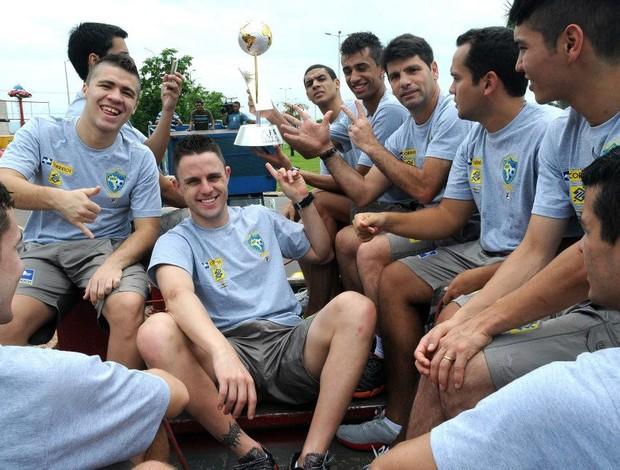 Brasil futsal Palmas (Foto: Luciano Bergamaschi/CBFS)