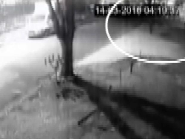 Circuto interno de vigilância flagra momento da explosão da Protege, em Campinas (Foto: Reprodução EPTV)