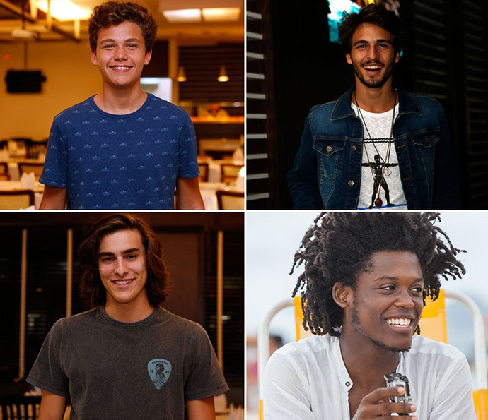 Gabriel Kaufmann, Brenno Leone, Bruno Montaleone e Maicon Rodrigues falam do amadurecimento profissional (Foto: TV Globo)