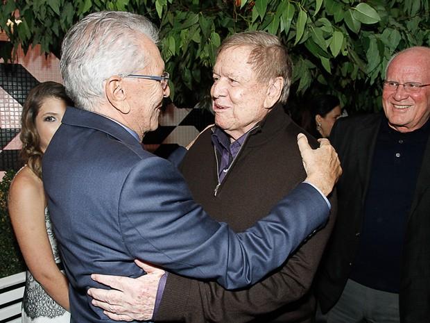 Carlos Alberto de Nóbrega e Boni em evento em São Paulo (Foto: Amauri Nehn/ Foto Rio News)
