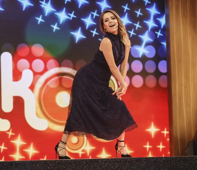 Sandy dança funk no palco do 'Tamanho Família' (Foto: Raphael Dias / Gshow)
