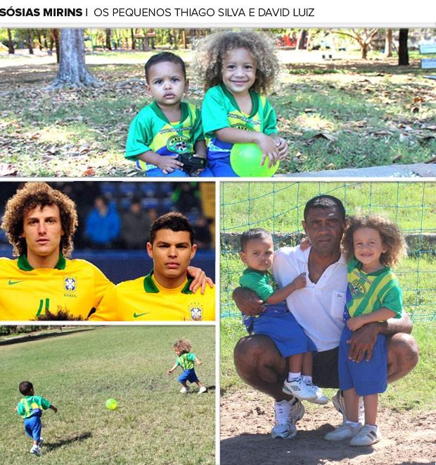 mosaico sosia dadivluiz thiagosilva2 New Pics: Tiny David Luiz (Chelsea) & Thiago Silva (PSG) doppelgängers get famous in Brazil
