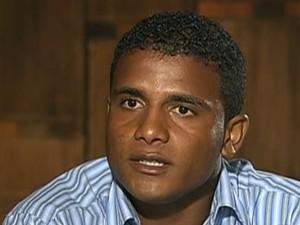 Jorge Luiz Rosa, primo do goleiro Bruno Fernandes. (Foto: Reprodução/TV Globo)