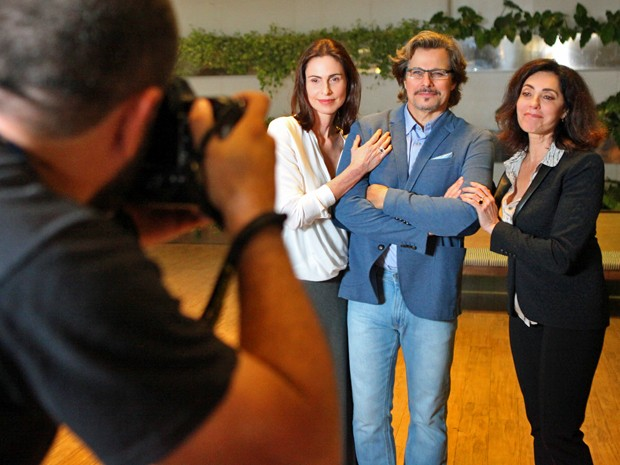 Personagens de Silvia Pfeifer, Edson Celulari e Christiane Torloni viverão triângulo amoroso (Foto: Carol Caminha/ Gshow)