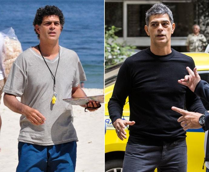 Du Moscovis como Leonardo Henrique no seriado 'Louco por Elas', e como Orlando em 'A Regra do Jogo' (Foto: Estevam Avellar / Globo e Ellen Soares / Gshow)
