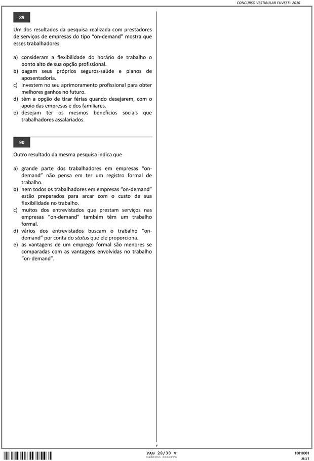 Fuvest - Caderno de Prova - 28 (Foto: Reprodução/Fuvest)