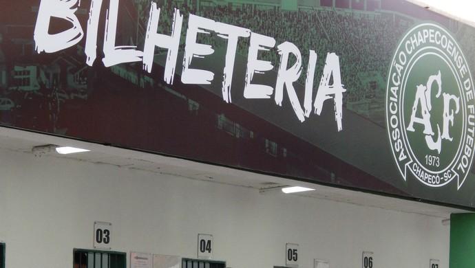 chapecoense arena condá ingressos (Foto: Laion Espíndula)