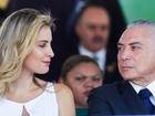 Temer e Marcela embarcam para encontro do Brics na Índia