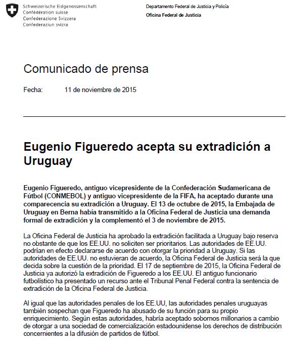 Comunicado Eugenio Figueiredo