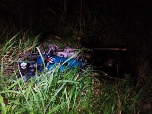 Motociclista morreu após colisão contra caminhão (Foto: Divulgação/ PRE)