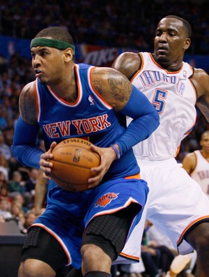 Carmelo Anthony  New York Knicks x Oklahoma City Thunder (Foto: Reuters)