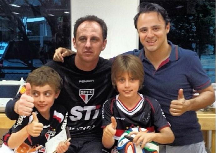 Felipe Massa Rogério Ceni (Foto: Reprodução / Instagram)