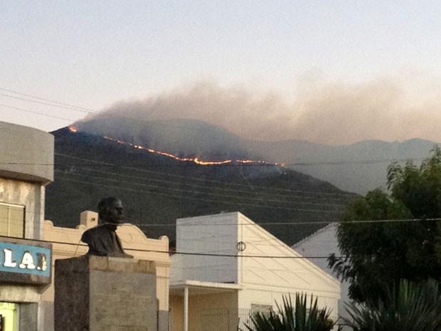 Incêndio na Serra do Orobó, na Chapada Diamantina, Bahia (Foto: Arquivo Pessoal)