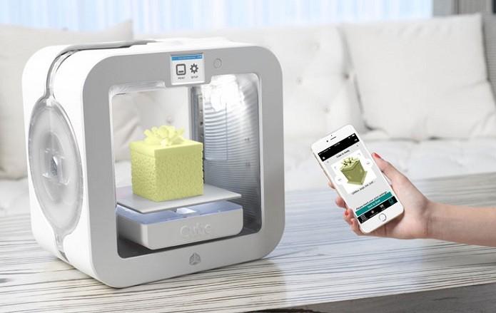 Cube 3D traz conexão Wi-Fi para conectividade com smartphone (Foto: Divulgação/3D Systems)