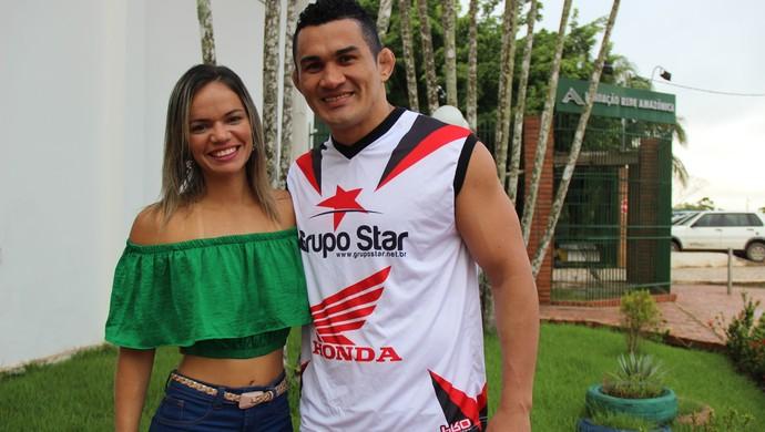 Francimar Bodão e Milenna Tonnera (Foto: João Paulo Maia)