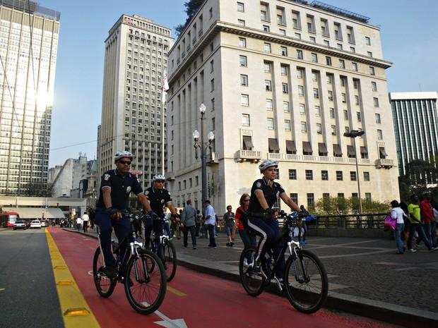 Objetivo da prefeitura é de ter 1,2 mil GCMs nas ciclovias (Foto: Marcelo Ulisses/GCM)